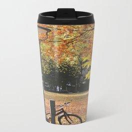 Fall Leaves Metal Travel Mug