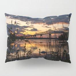 Sun sets on the bridge Pillow Sham