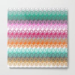 Waves colorful pattern Metal Print