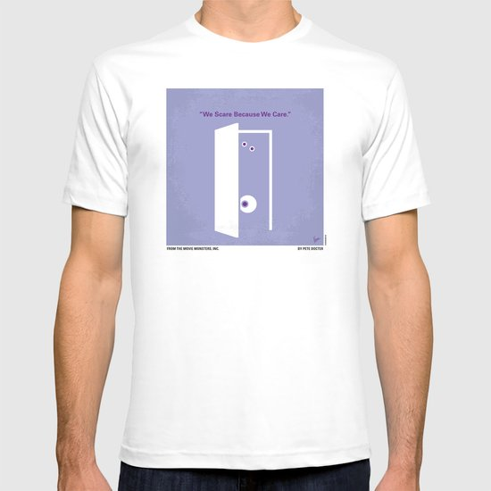 No161 My Monster Inc minimal movie poster T-shirt