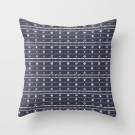 Winter Flakes Pattern Throw Pillow