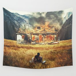 Burned Wall Tapestry