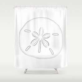 Ordinaire Sand Dollar Blessings   Black On White Pointilism Art Shower Curtain