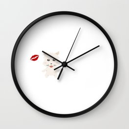 I Kissed A West Highland White Terrier And I Liked It Cute Dog Kiss Gift Idea Wall Clock