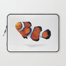 Geometric Abstract Clown Fish  Laptop Sleeve