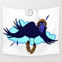 floyd Wall Tapestries featuring This is Floyd Birdfinger by Lucky Lusk