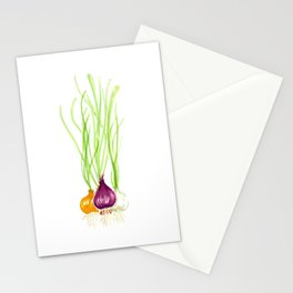Onion Bulbs Stationery Cards