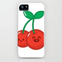 HyperKawaii happy cherry iPhone Case