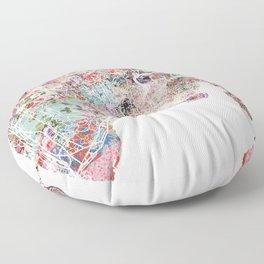 Nice map Floor Pillow