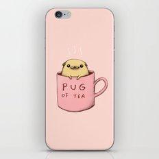 Pug of Tea iPhone & iPod Skin