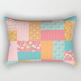 Cute Summer Flowers Quilt Rectangular Pillow