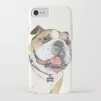 bulldog iPhone & iPod Cases featuring bulldog  by Laura Graves