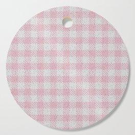 Light Pink Buffalo Plaid Cutting Board