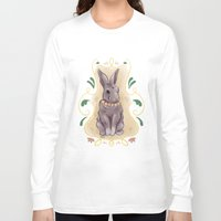 hare Long Sleeve T-shirts featuring Hare by Monkah
