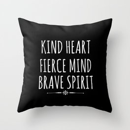 Kind Heart Throw Pillow