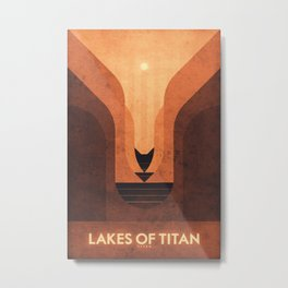 Titan - Lakes of Titan Metal Print
