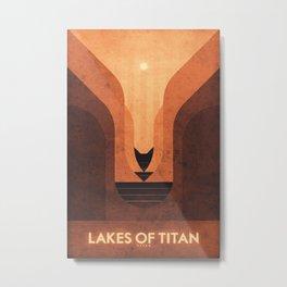 Titan - Lakes of Titan Metal Print