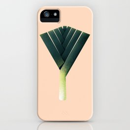 Oh no, theres a leek! iPhone Case