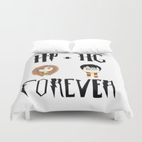 hermione Duvet Covers featuring Harry And Hermione Forever by The Lady Derp