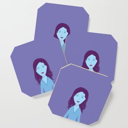 The Girl Who Remains Coaster