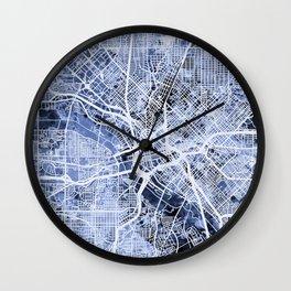 Dallas Texas City Map Wall Clock