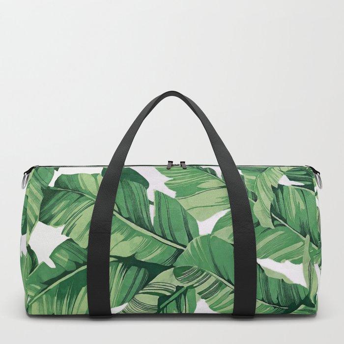 Tropical banana leaves VI Duffle Bag