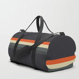 Fujitaka - Classic Dark Retro Stripes Duffle Bag
