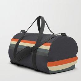 Fujitaka - Classic Dark Retro Stripes Duffle Bag