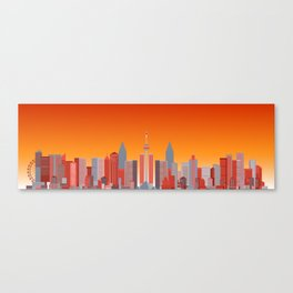 Future Cityscape 001 // Sunset Canvas Print