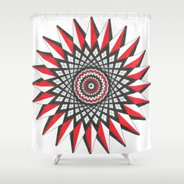Interwoven Geometric Star Shower Curtain