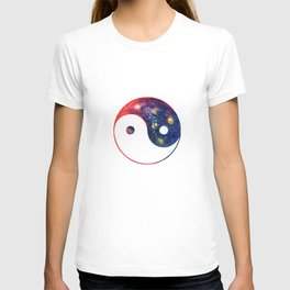 Yin Yang Symbol Watercolor T-shirt