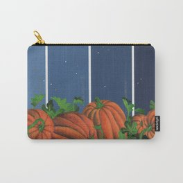 Pumpkin Patch at Night on Blues Carry-All Pouch