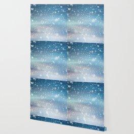Snow Bokeh Blue Pattern Winter Snowing Abstract Wallpaper