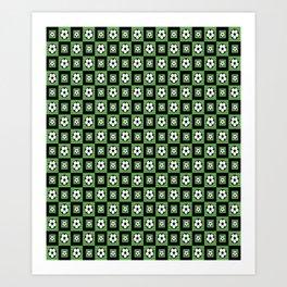 Soccer Motif Pattern Art Print
