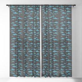 Shark city Sheer Curtain