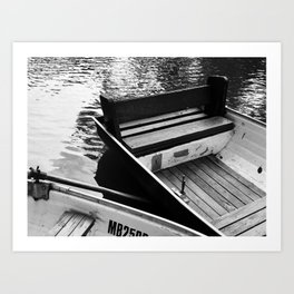 Two boats on a river Art Print
