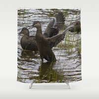 duck Shower Curtains featuring Duck by Isabelle Savard-Filteau