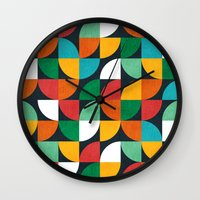 pie Wall Clocks featuring Pie in the sky by Picomodi