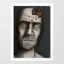 Broken Head Art Print