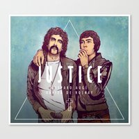 justice Canvas Prints featuring Justice by Matt Chinn