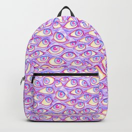 Wall of Eyes in Purple Backpack