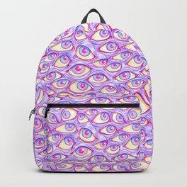 Wall of Eyes in Purple Backpack