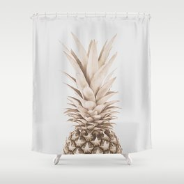 Pineapple a Day Shower Curtain