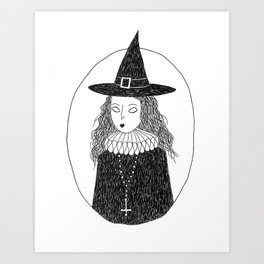 Puritan Witch Art Print