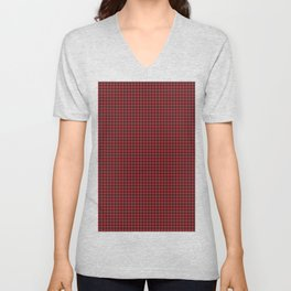 Hounds Tooth Check Black and Red Houndstooth Pattern  Unisex V-Neck