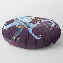 Metallic Octopus III Floor Pillow