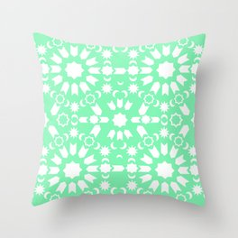 Peppermint Arabesque Throw Pillow