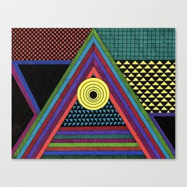 Colorful Triangle Geometric Shapes Canvas Print
