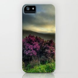 Pink Flowers with Fog iPhone Case
