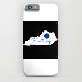 Kentucky State Map Basketball Print iPhone Case